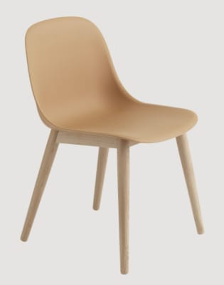 Fiber Side Chair Wood Base Oak/Nature