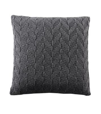 Fishbone Cushion Dark Grey