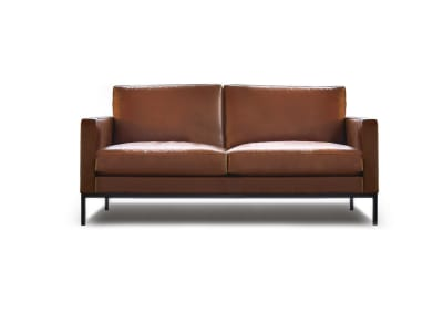 Florence Knoll Untufted 2 Seater Sofa - Relax Lucca Parco Della Musica LC2410, Painted Black