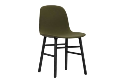 Form Dining Chair - Fully Upholstered NC Grey Lacquered Steel, Sørensen Ultra Leather Black Brown - 41590