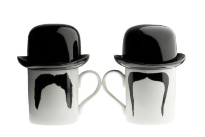 Fu Magnum Moustache Mug with Sugar Bowl Top Hat
