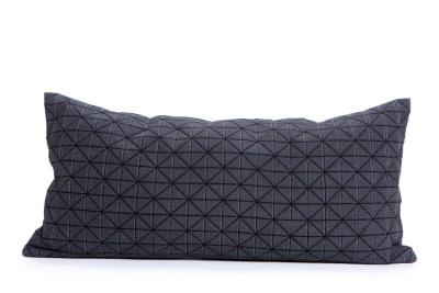Geo Origami Rectangular Cushion Cover Black
