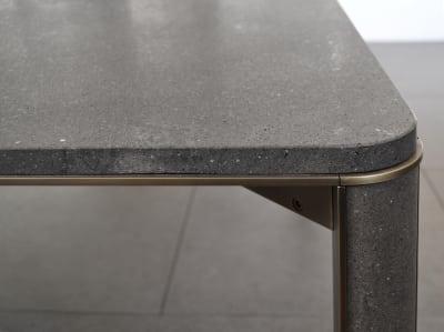 Gregorio rectangular dining table Basaltina