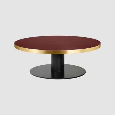 Gubi 2.0 Round Coffee Table Laminate Black, Gubi Metal Black, Ø110
