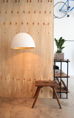 H2O Pendant Light White and Gold