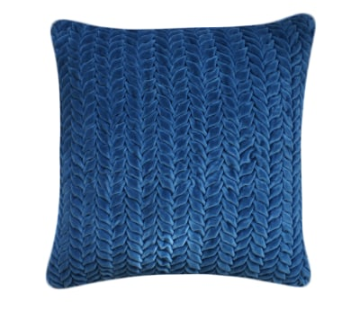 Hand Stitched Leaf Cushion