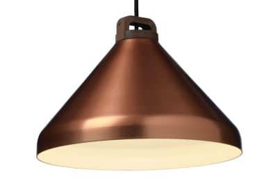 Handle Wide Pendant Light Copper