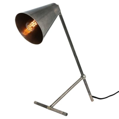 Havana Modern Industrial Table Lamp  Antique Silver