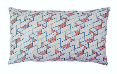 Hex Long Cushion Orange and Blue