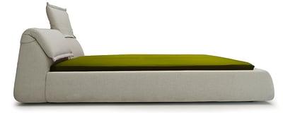 Highlands Bed B0211 - Leather Oil cirè, 180 x 200 cm