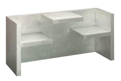 HP01 Tafel Table/Bench Brushed Aluminium, Large