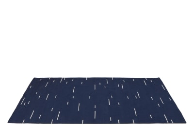Jama-khan Cotton Rug Blue