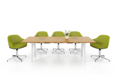Joyn  Conference Table, With Current Rotax 240, melamine soft light