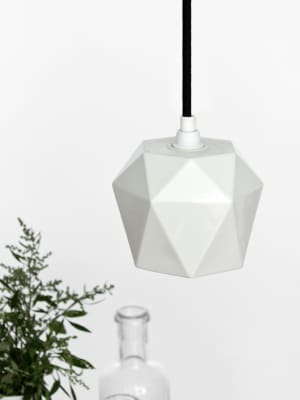 [K1] Pendant Light Triangle Matte Porcelain