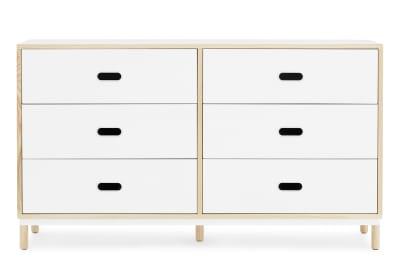 Kabino Dresser with 6 Drawers White