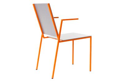 Kiila Sn Stacking Chair Grey, Orange