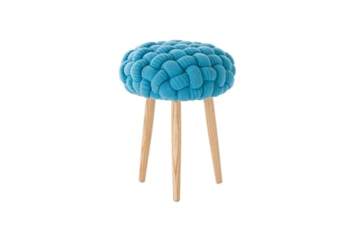 Knitted Stool Blue