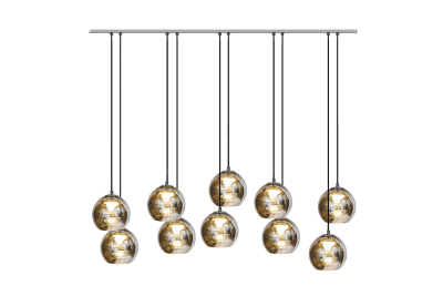 Kubric Pendant Lamp with 10 Clusters Satin Bronze