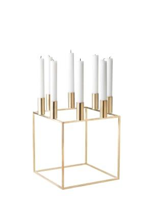 Kubus 8 Candleholder - Set of 2 Brass-Plated