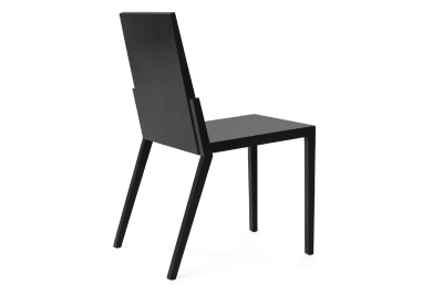 Kuusjoki Stacking Chair Black