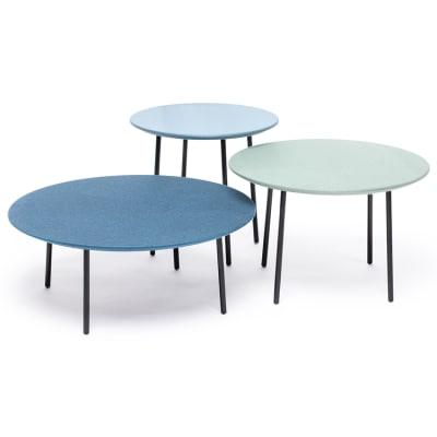 Lago fabric set of 3 tables Blue Cloud/Tea/Mallard