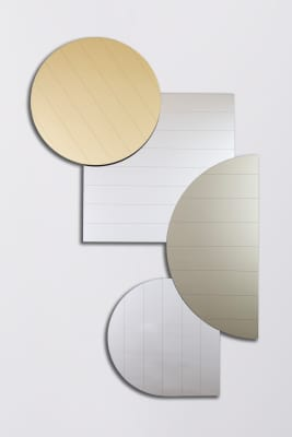 Layer Mirrors, Mettalics Set of four mirrors