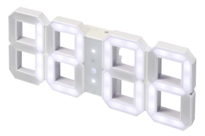 LED Clock White&White