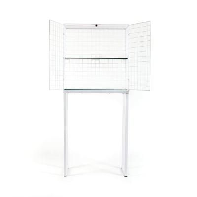 Les Volières Metal Mesh Cabinet Wide White