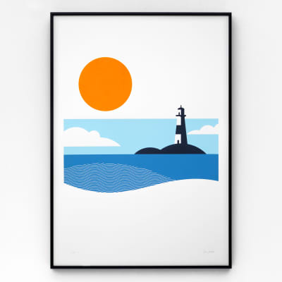 Lighthouse A2 Screen Print