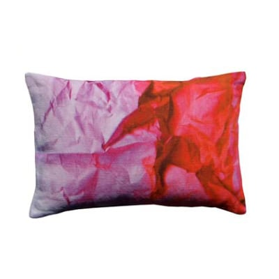 Lilac Crinkled Paper Print Rectangular Cushion