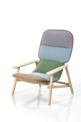 Lilo Armchair L107F, Walnut varnished ash