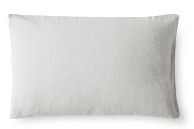 Linen Pillowcase Dove Grey, Oxford