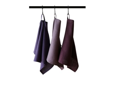 Linen tea towels Set Violet Made with two loops