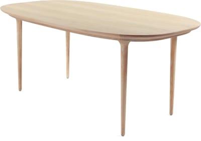 Lunar Dining Table Walnut, W2800