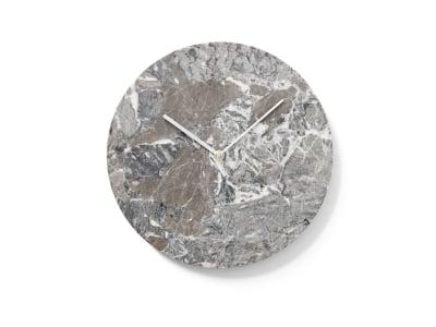 Marble Wall Clock Grey