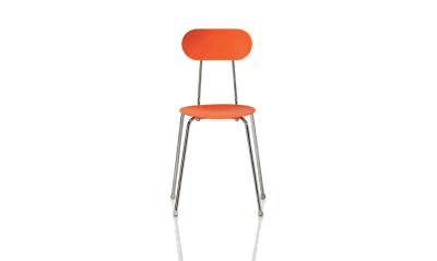 Mariolina Stacking Chair - Set of 4 Matt Orange