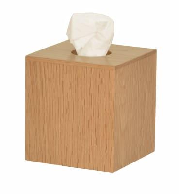 Mezza Tissue Box Cube Natural Oak