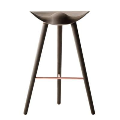 ML42 Barstool Brown Oiled Oak / Copper