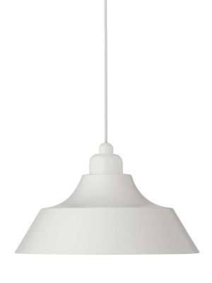 Momentum Pendant Light White with White Top