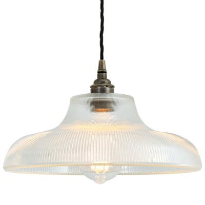 Mono Industrial 38cm Railway Pendant Light Antique Silver