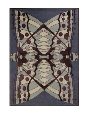 Moth Rug Multicoloured