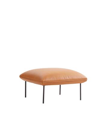 Nakki ottoman Leather Silk SIL0197 Cream