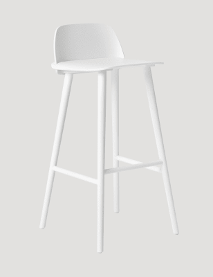 Nerd Bar Stool White, 65cm