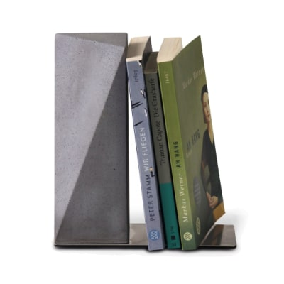 Nordwand Concrete Bookend White