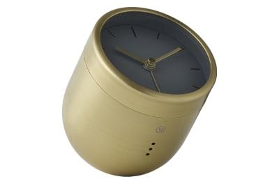 Norm Tumbler Alarm Clock Brushed Brass