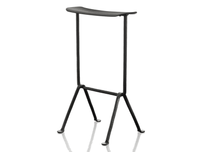 Officina Bar Stool Painted Black, Dark Green, 65cm
