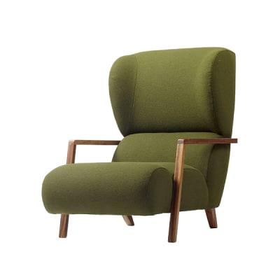 Papa Chair Walnut Stain, Blue