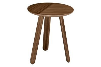 Paper Side Table Gubi Wood American Walnut, Ø42