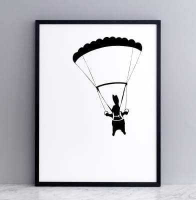 Parachute Rabbit Screen Print Small