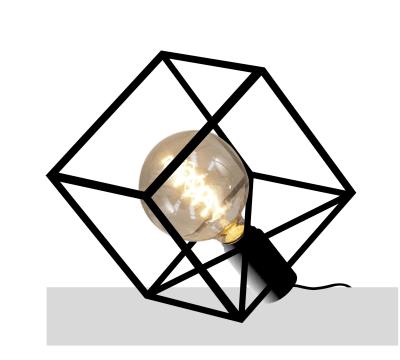 Paradice Naked Table Lamp Black Iron